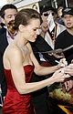hilary swank asymmetrical red dress 41