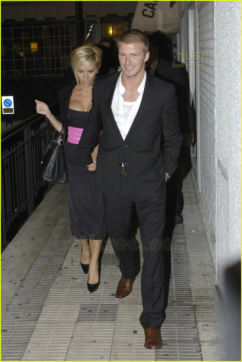Full sized photo of david beckham victoria beckham real madrid party