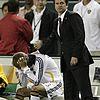 david beckham injured knee 07