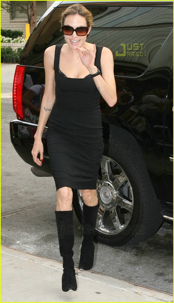 06 angelina jolie pointy black boots