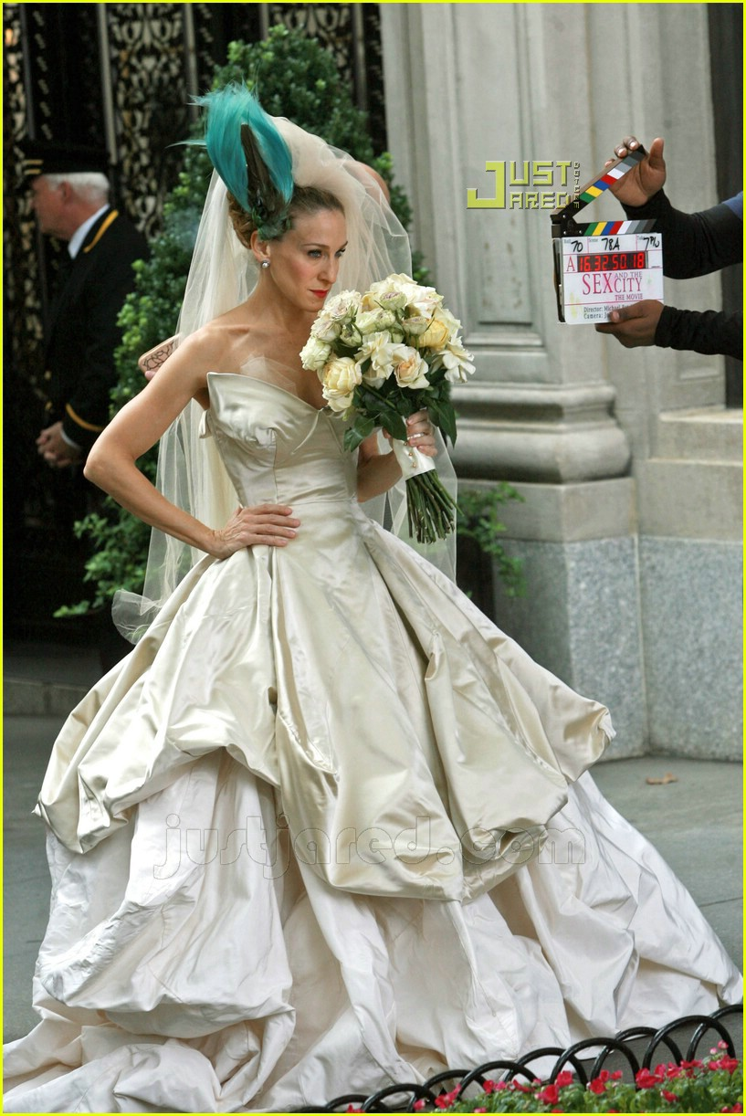 Full sized photo of sarah jessica parker wedding dress 22 for Sarah jessica parker wedding dress