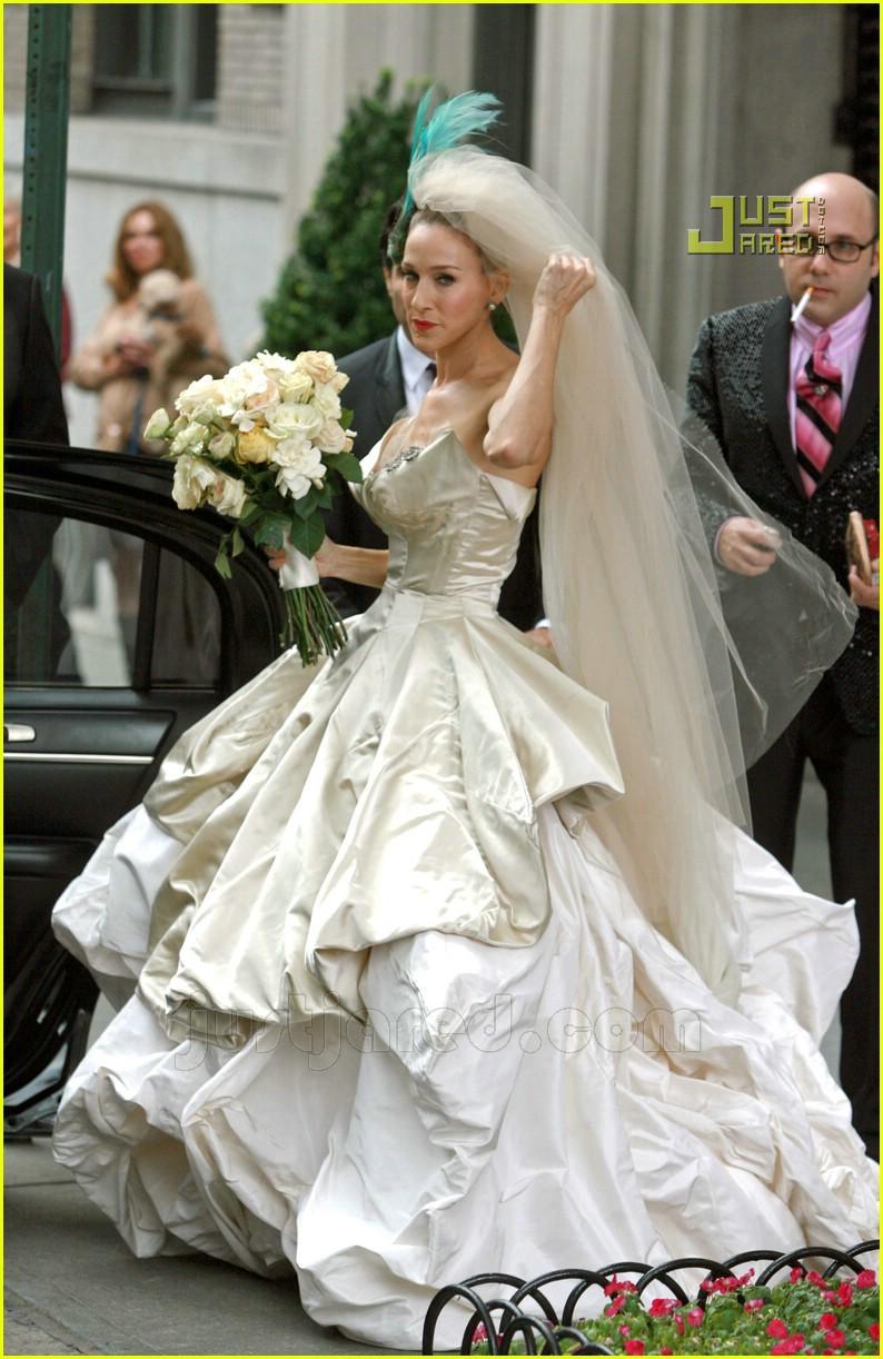 Full sized photo of sarah jessica parker wedding dress 25 for Sarah jessica parker wedding dress