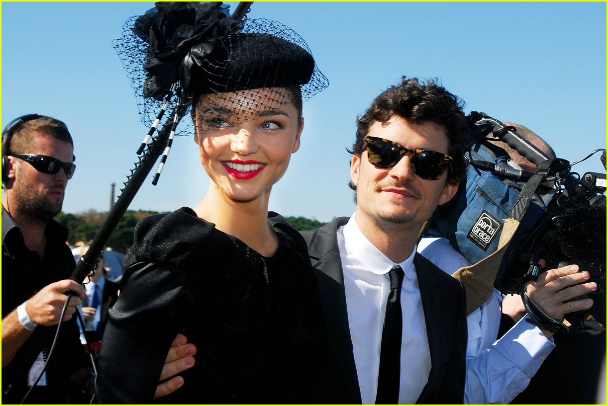 orlando bloom miranda kerr derby 08