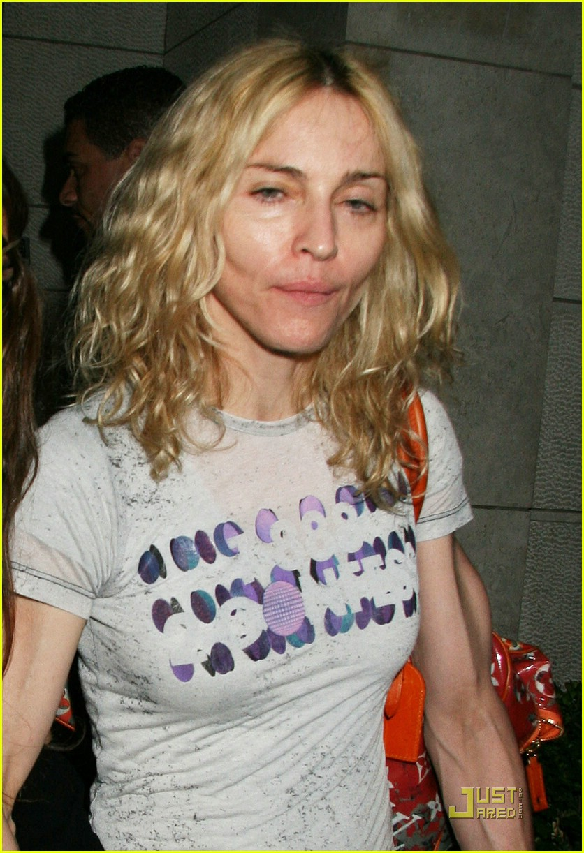 Madonna Looks Down In The Dumps