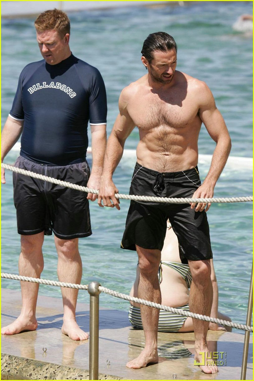 hugh jackman six pack stomach 02