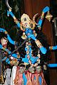 heidi klum blue indian goddess halloween 28