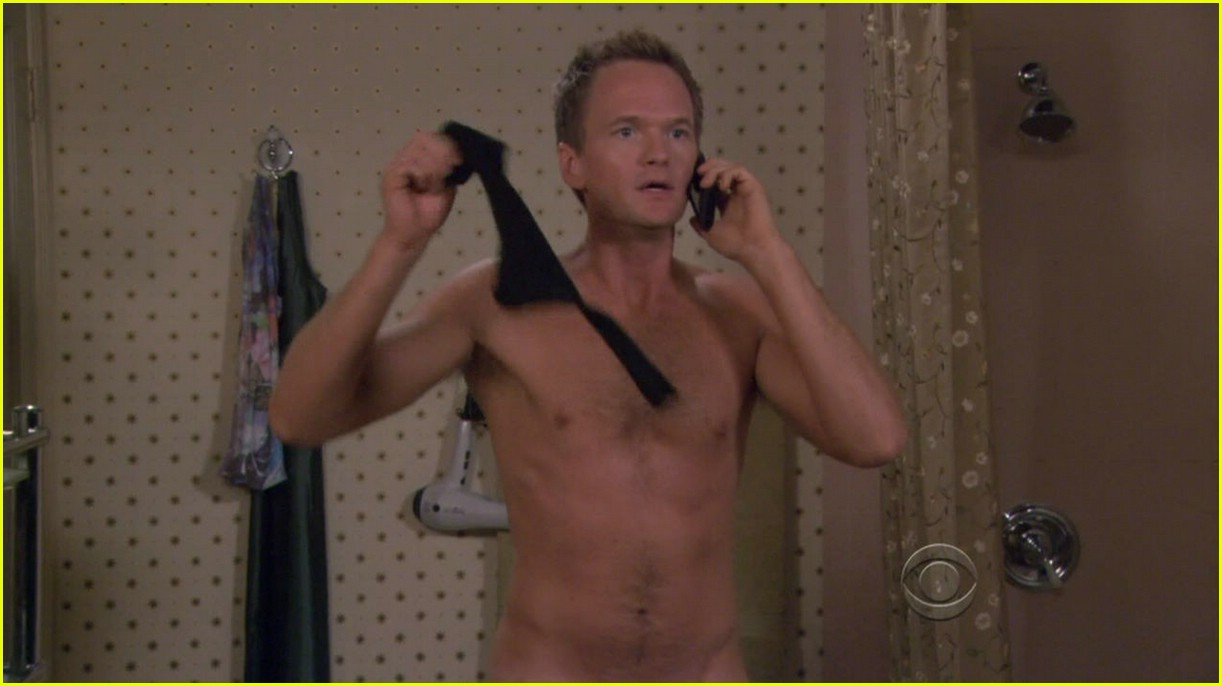 Neil Patrick Harris gets naked as his womanizing character Barney Stinson in ...