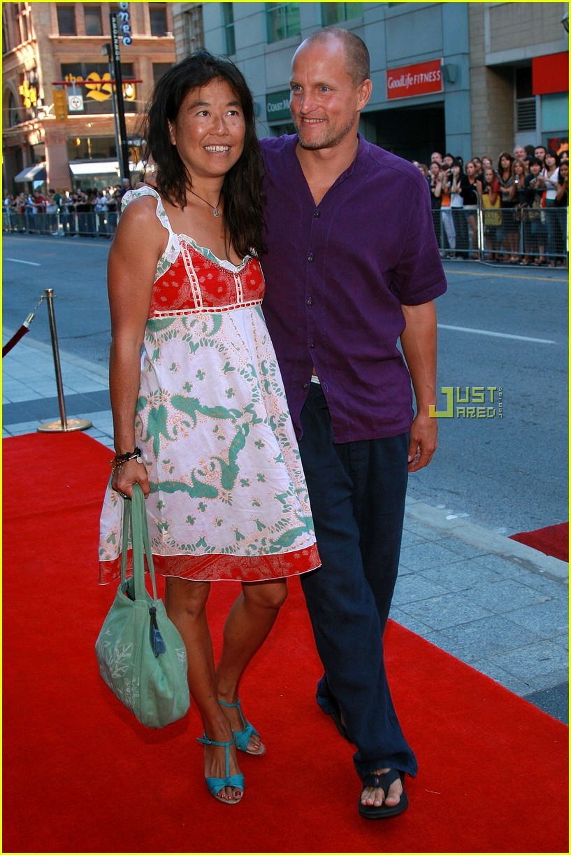 Woody Harrelson with cool, cute, Wife Laura Louie.