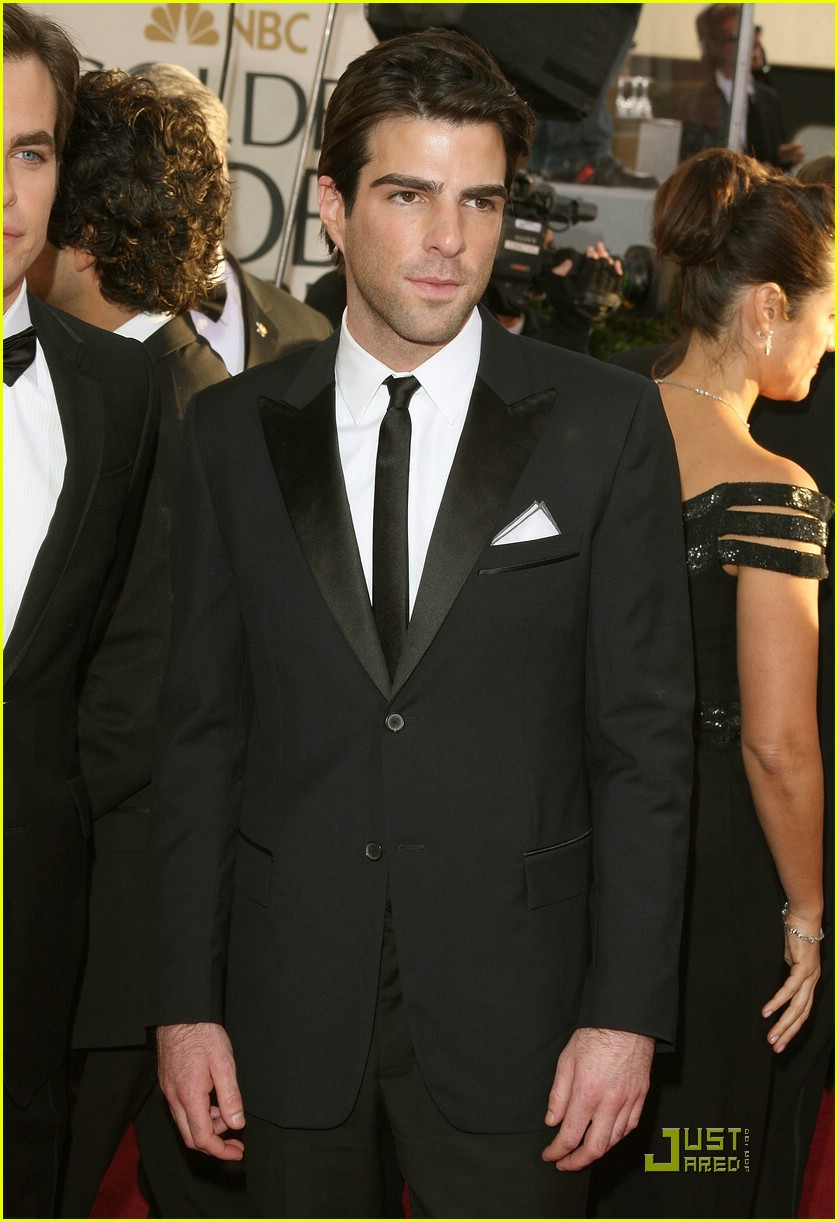 chris pine zachary quinto golden globes 2009 12
