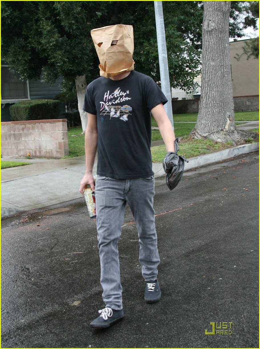 shia labeouf paper bag head 13