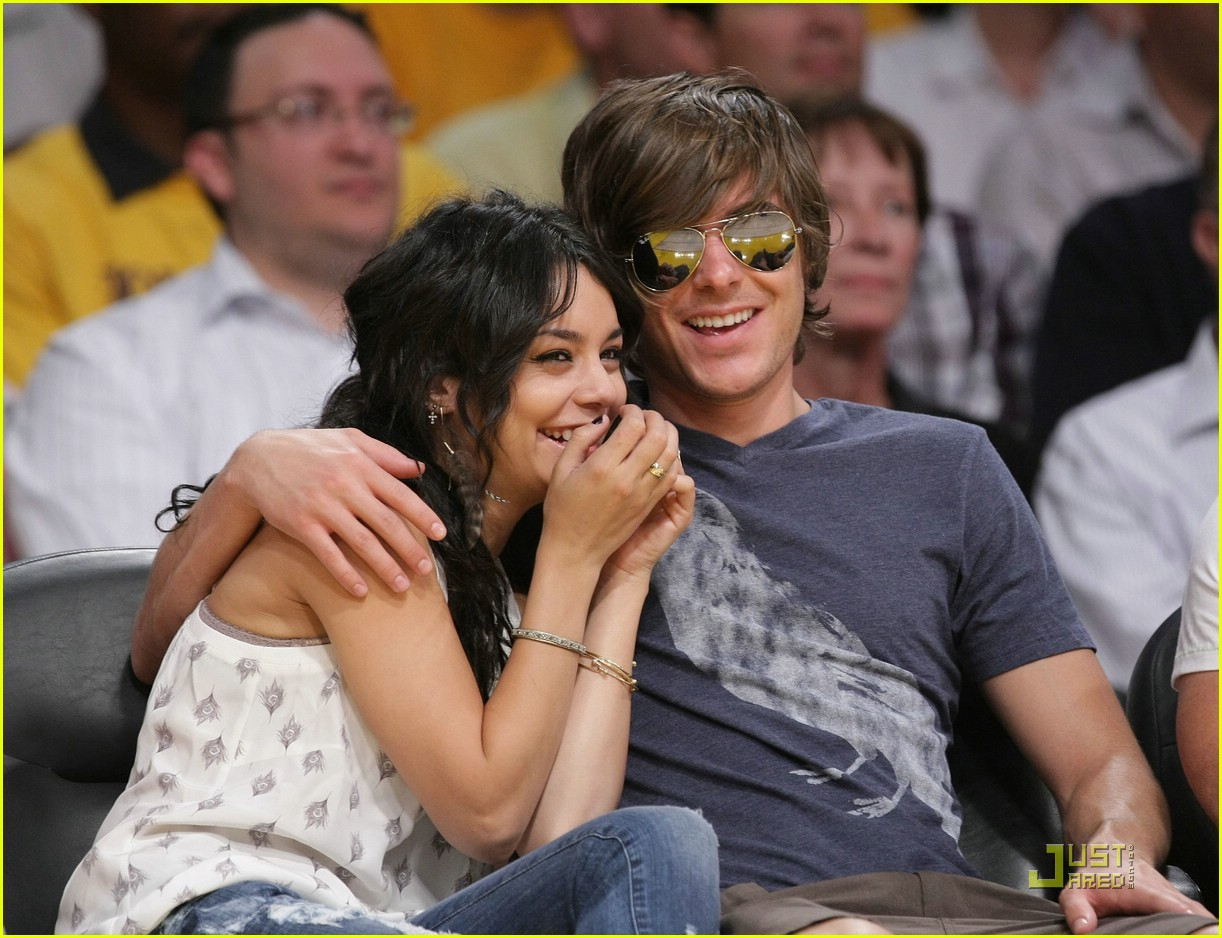 zac efron vanessa hudgens lakers 05