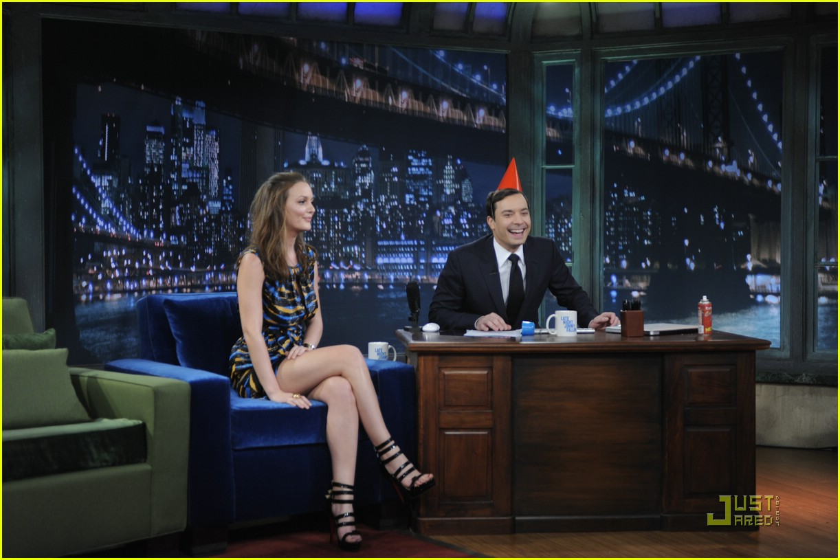 leighton meester jimmy fallon 10