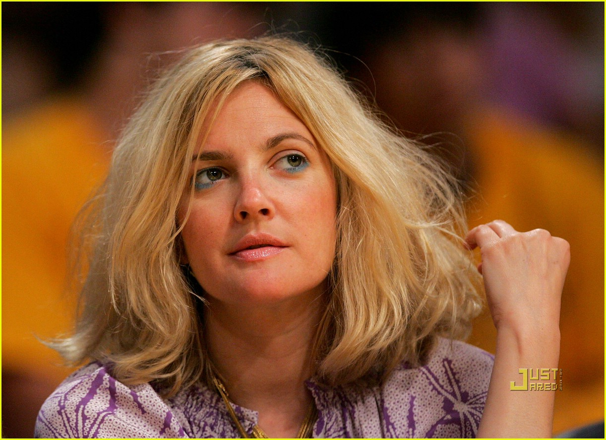 drew barrymore lakers game 07