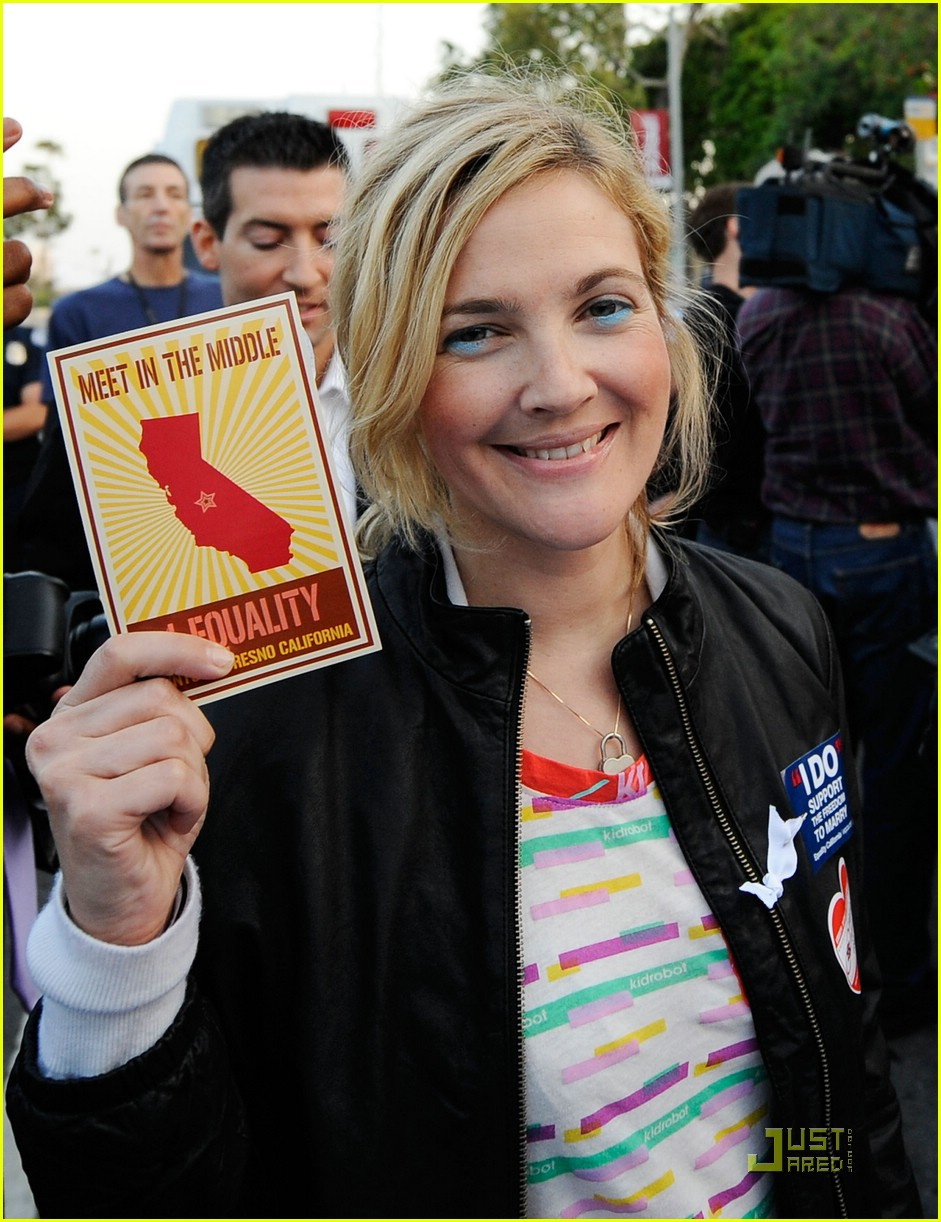 drew barrymore gay marriage rally 10