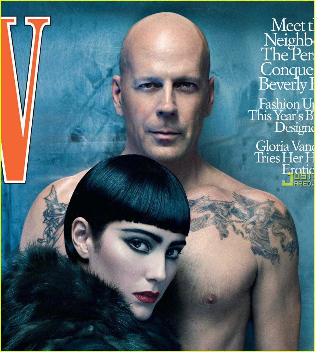 bruce willis and emma heming photo shoot Bruce Willis Feud