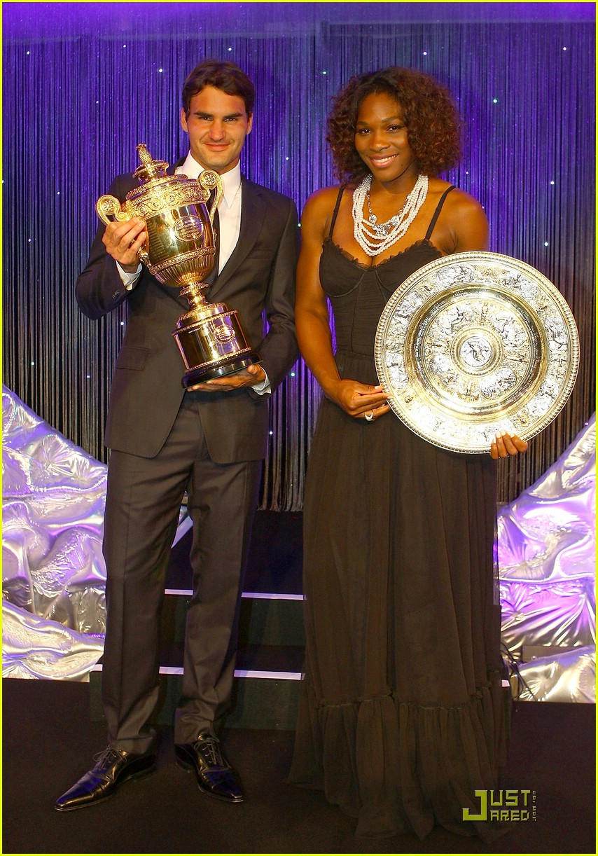 roger federer serena williams take their trophies 10