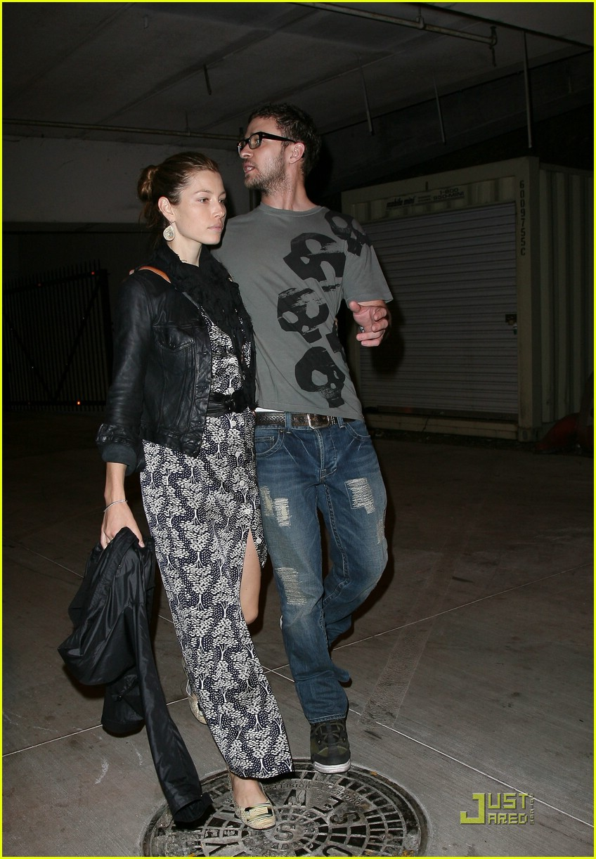 justin timberlake jessica biel hollywood bowl 06