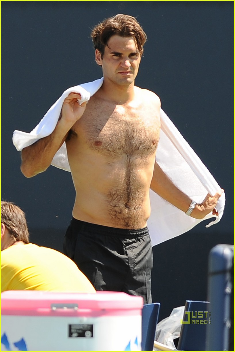 roger federer shirtless 03