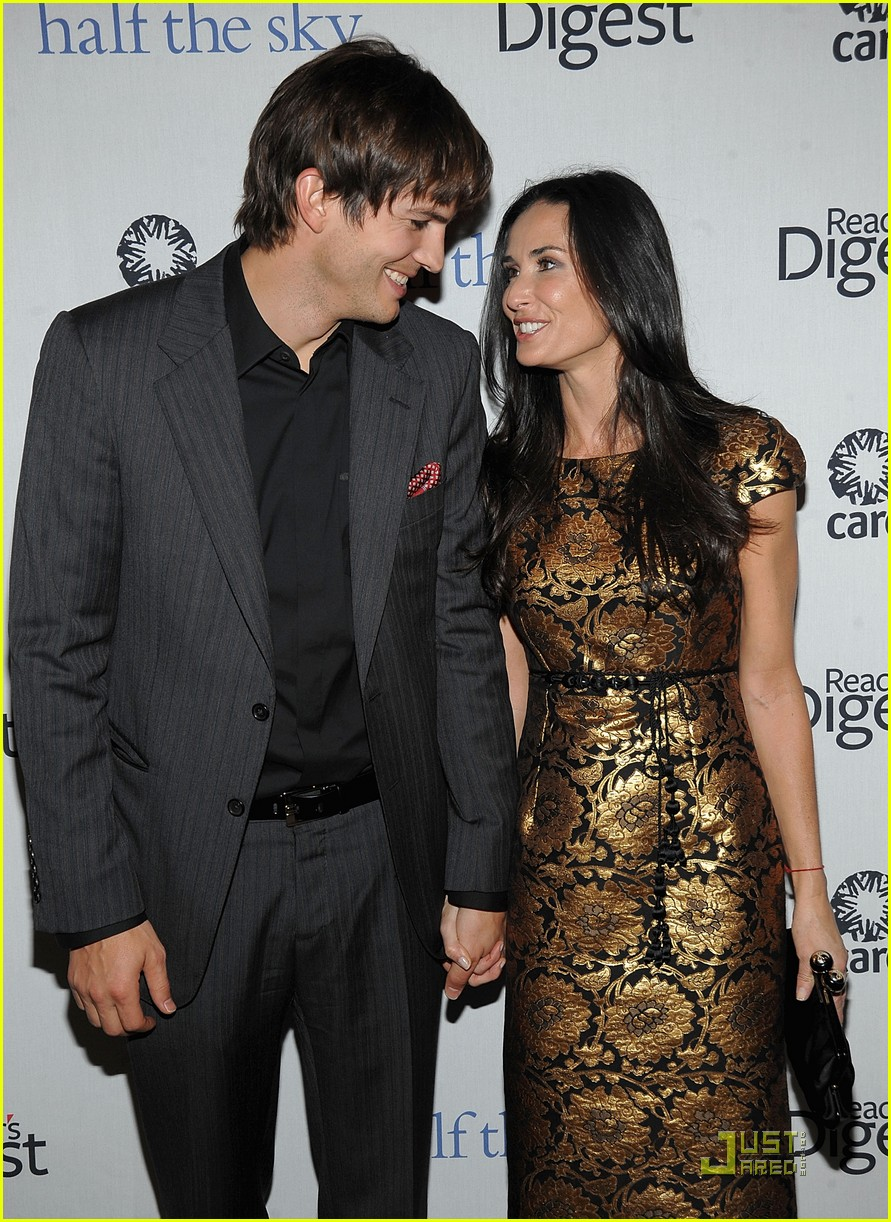 ashton kutcher demi moore half the sky 132240892
