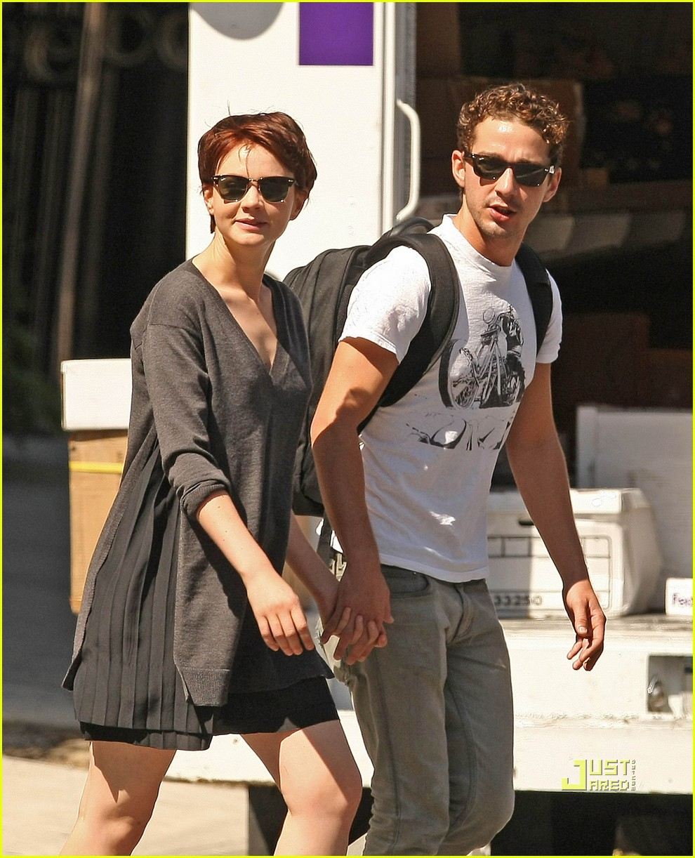 shia labeouf carey mulligan holding hands 07