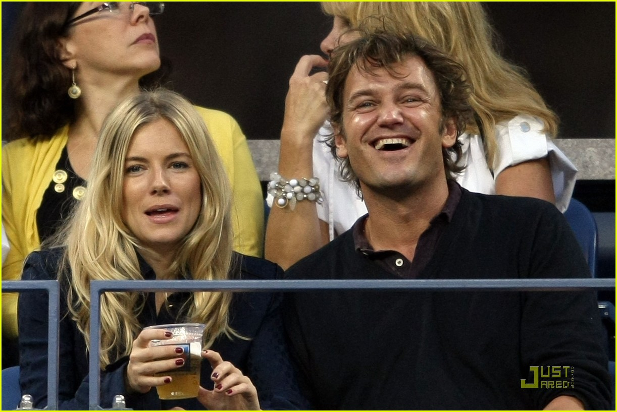 sienna miller george baker us open 01