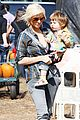 christina aguilera visits a pumpkin patch 12