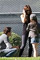kate beckinsale and her family walk the dog 12