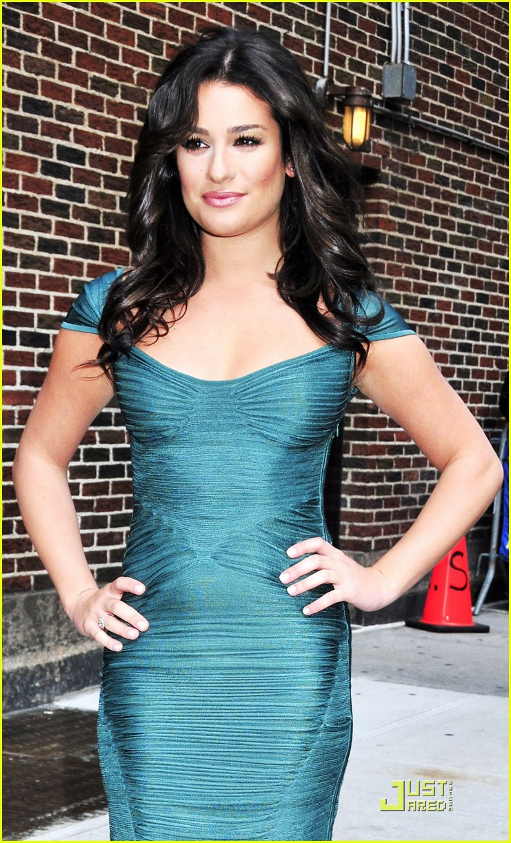 lea michele meets david letterman 08