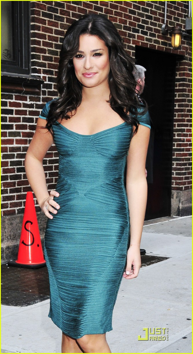 lea michele meets david letterman 09