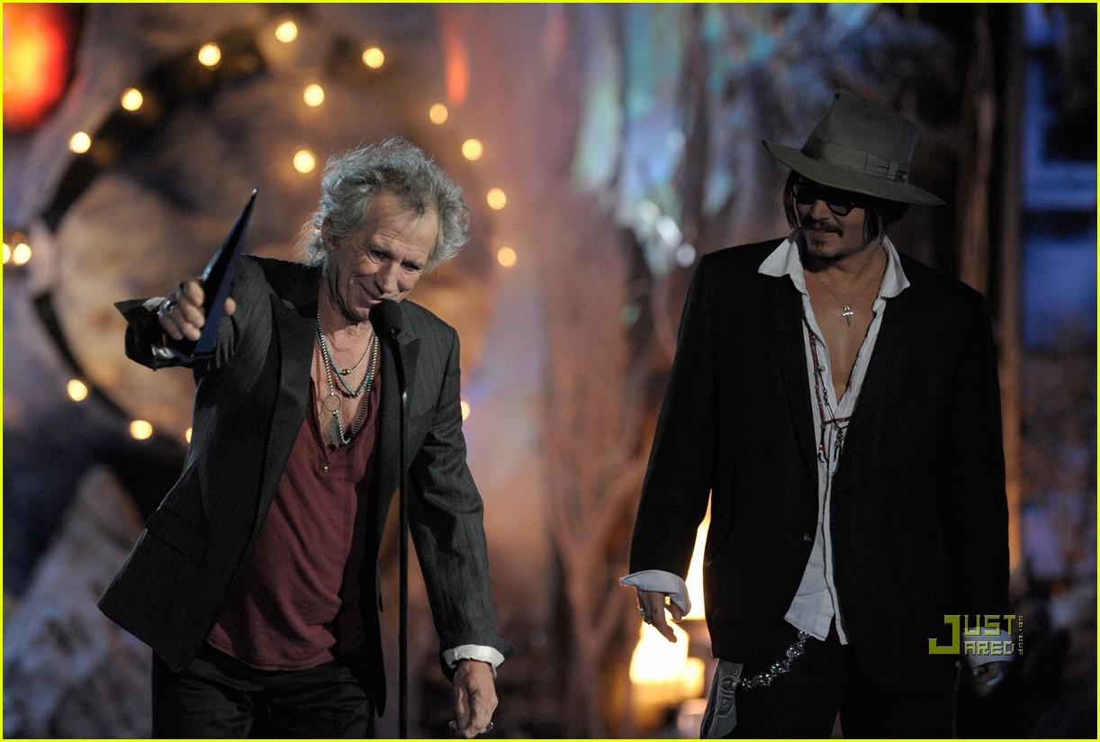 johnny depp keith richards rock immortal scream awards 06