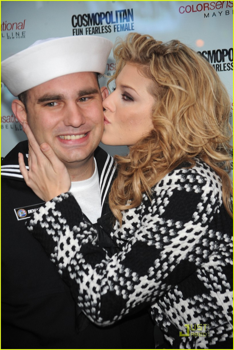 annalynne mccord kisses troops 11