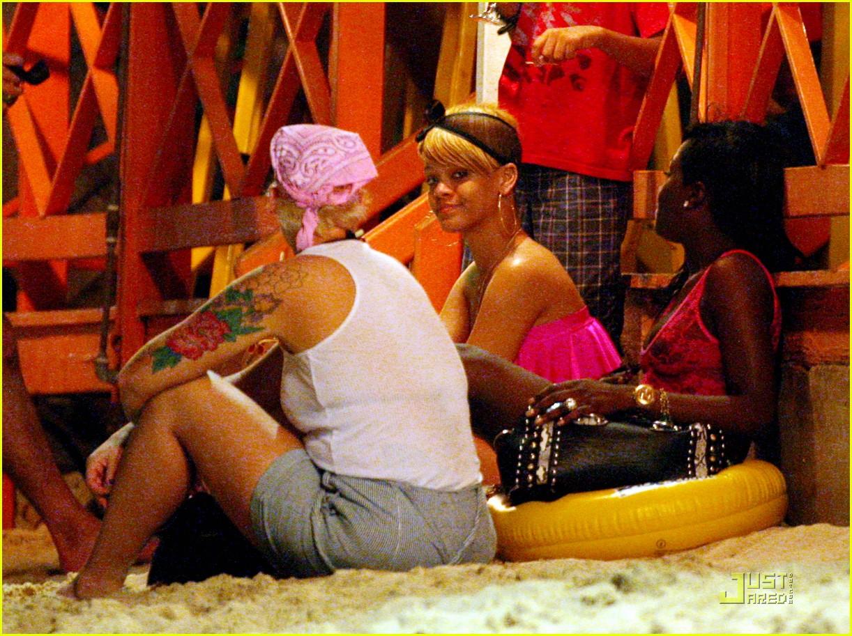 rihanna ruffled pink bikini barbados 022404199