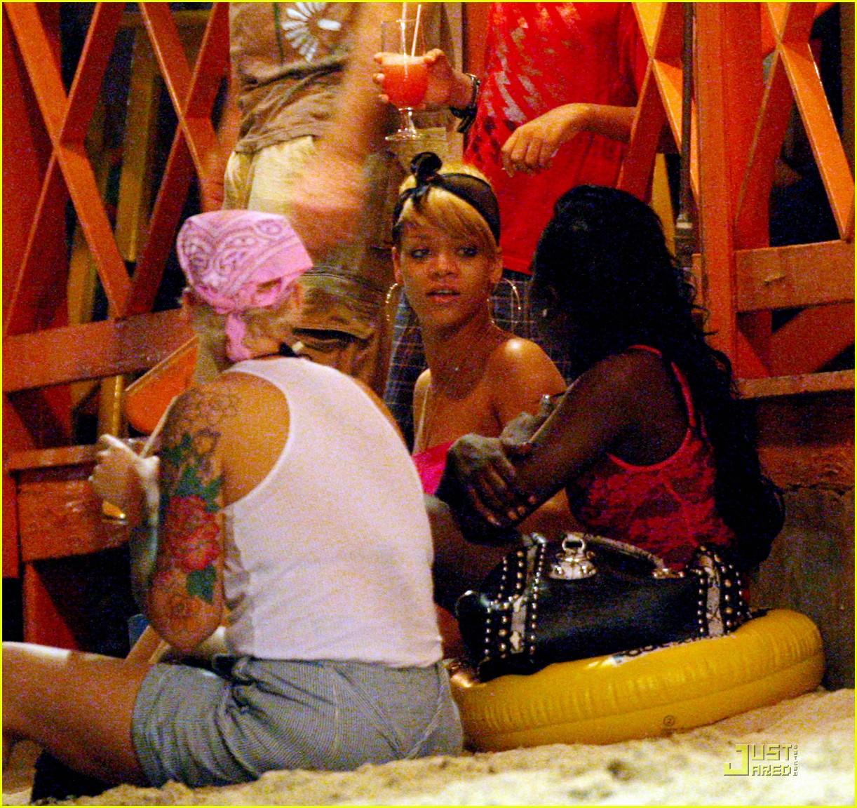 rihanna ruffled pink bikini barbados 112404208