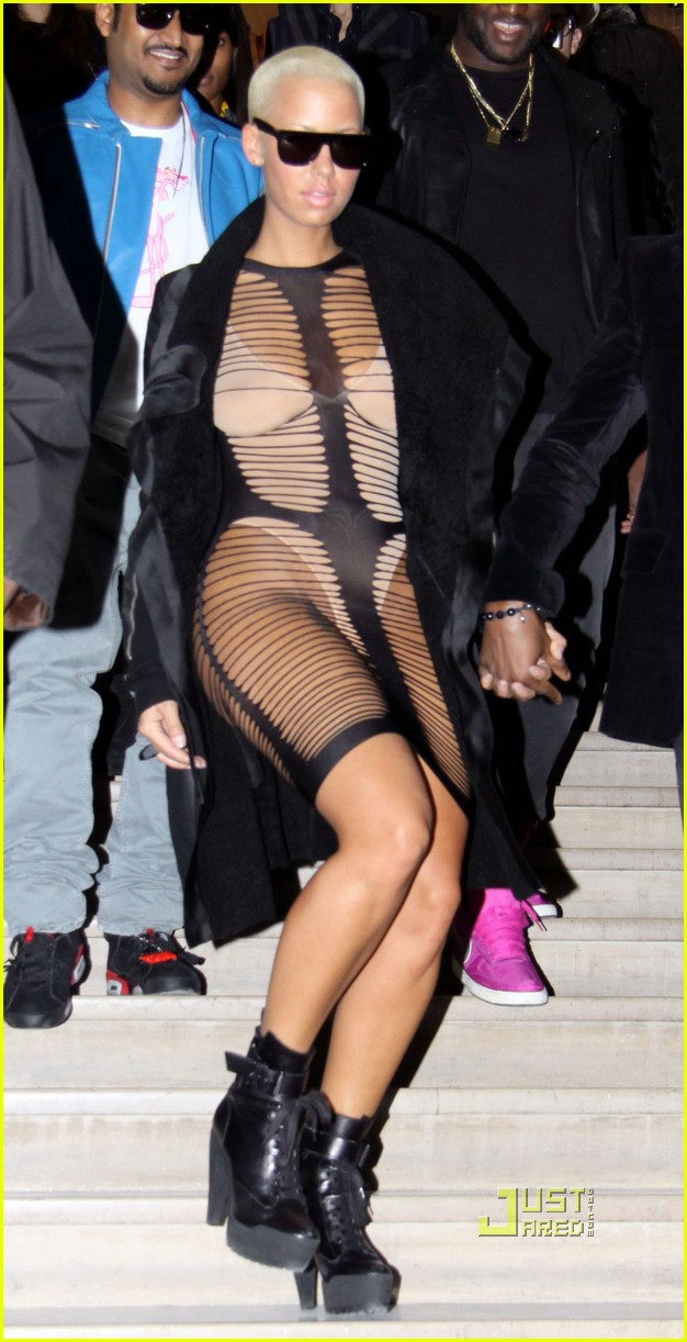 kanye west amber rose see through dress 01