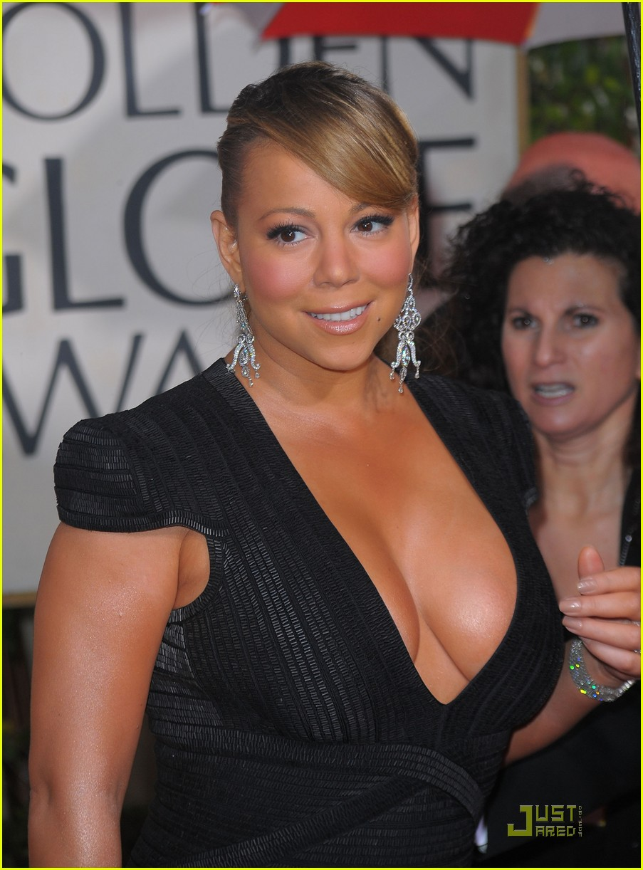 mariah carey 2010 golden globe awards red carpet 032409271