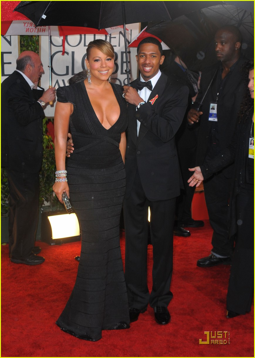 mariah carey 2010 golden globe awards red carpet 042409272