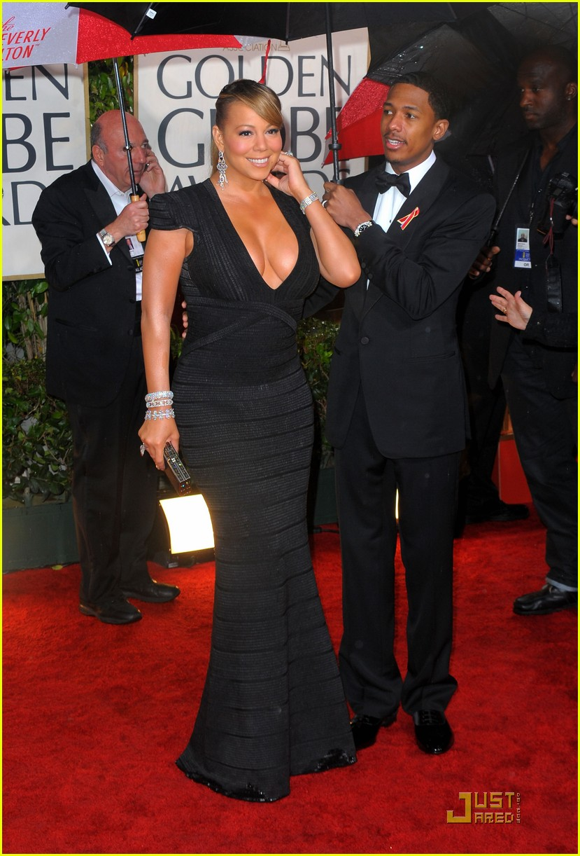 mariah carey 2010 golden globe awards red carpet 07