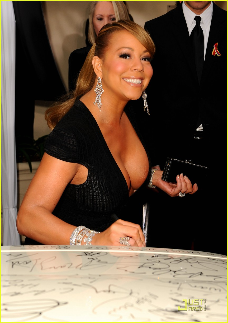 mariah carey 2010 golden globe awards red carpet 08