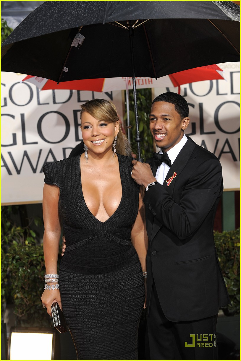 mariah carey 2010 golden globe awards red carpet 15