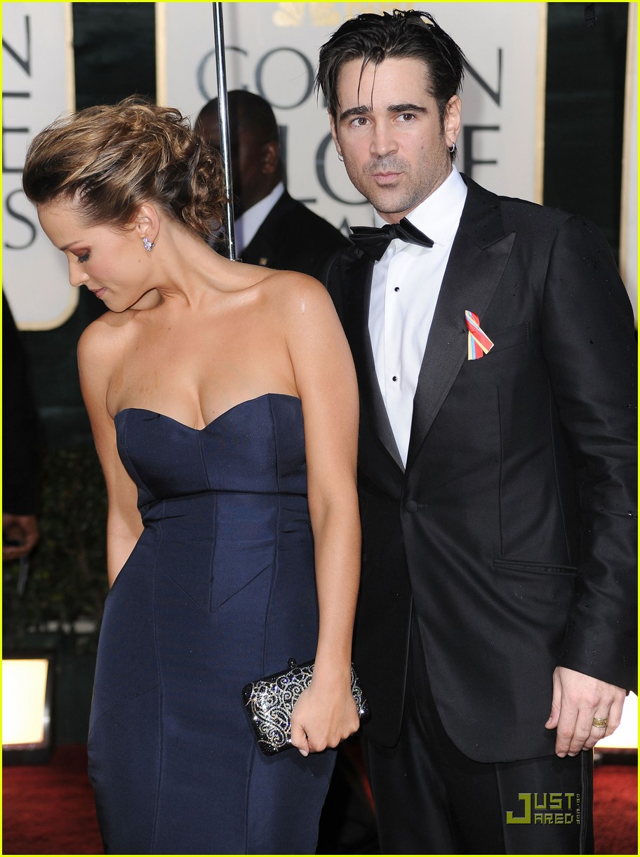 colin farrell alicja bachleda 2010 golden globe awards red carpet 04