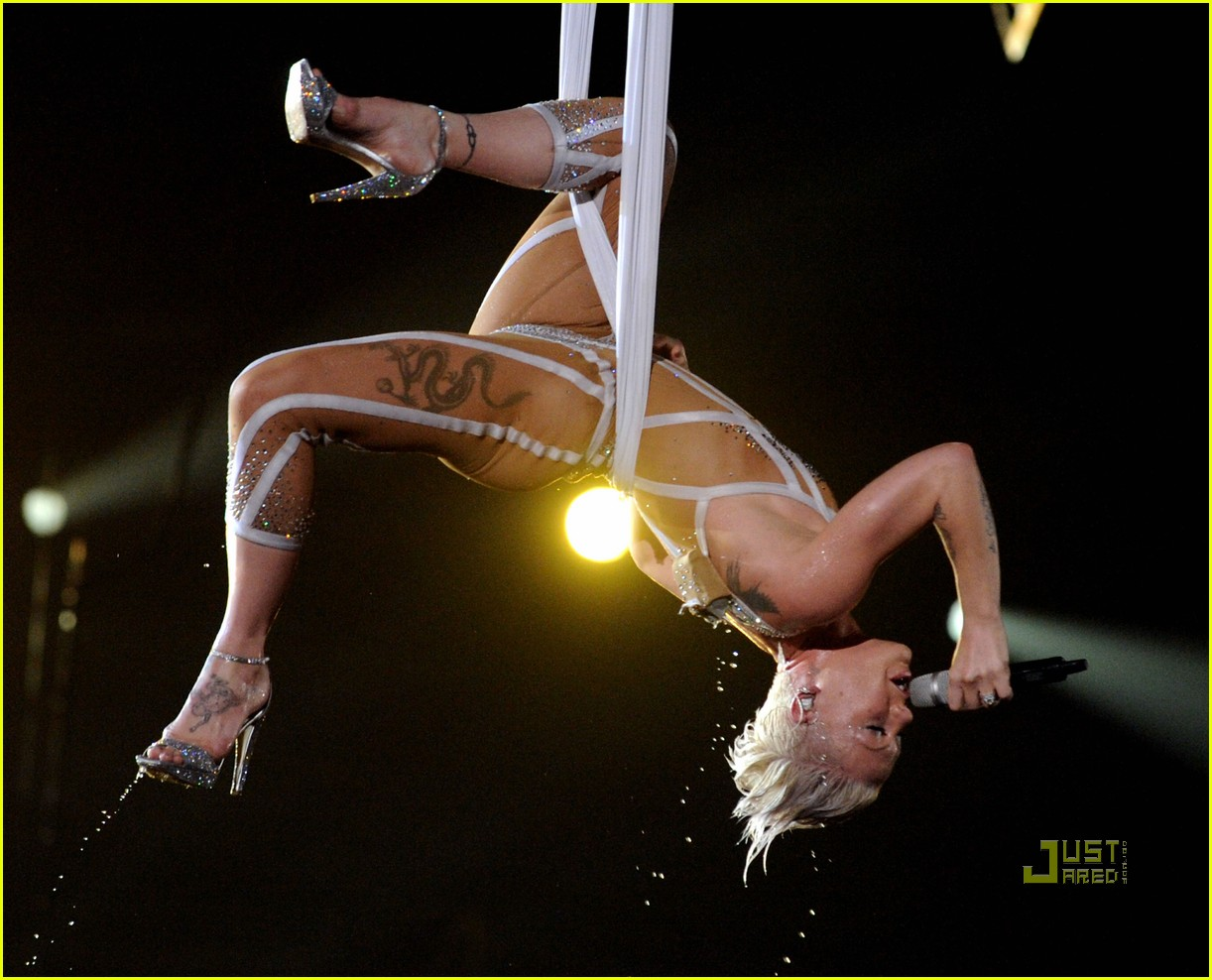 pink naked grammys performance 042413184