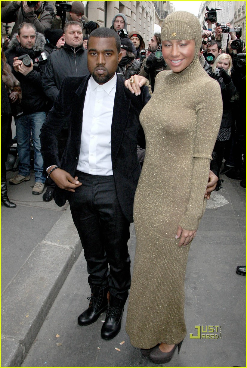 kanye west amber rose chanel haute couture 06