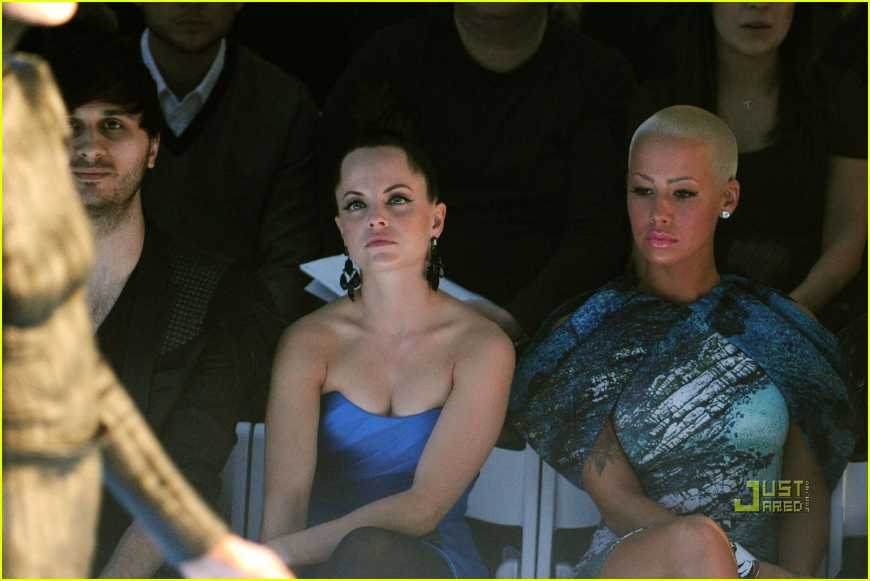 amber rose christian siriano new york fashion week 13