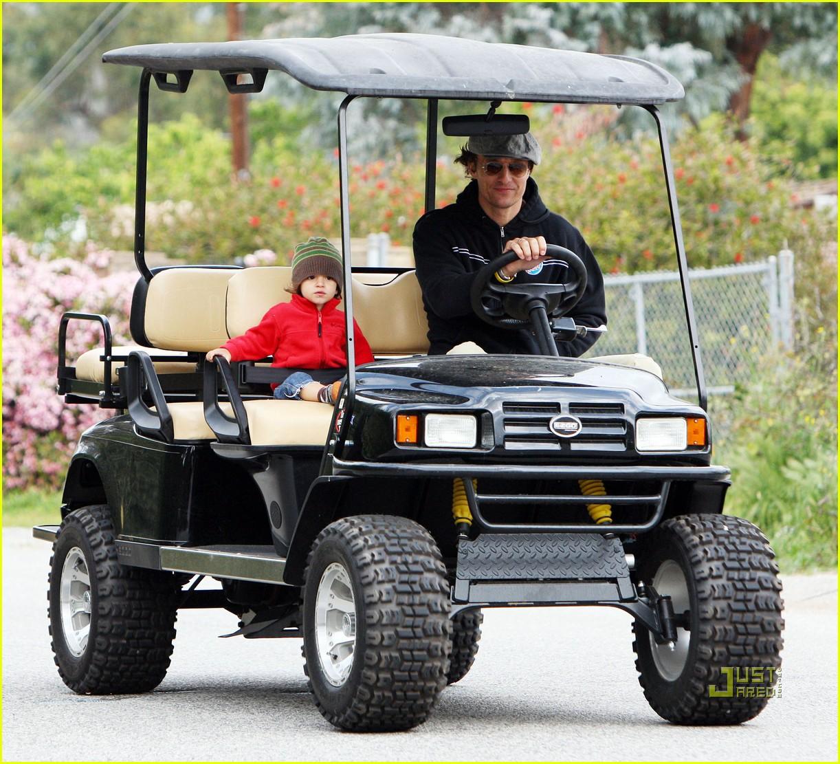 levi matthew mcconaughey golf cart 11