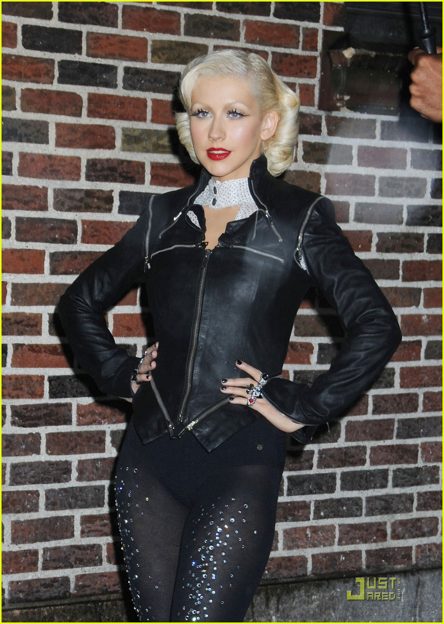 christina aguilera lost letterman 07