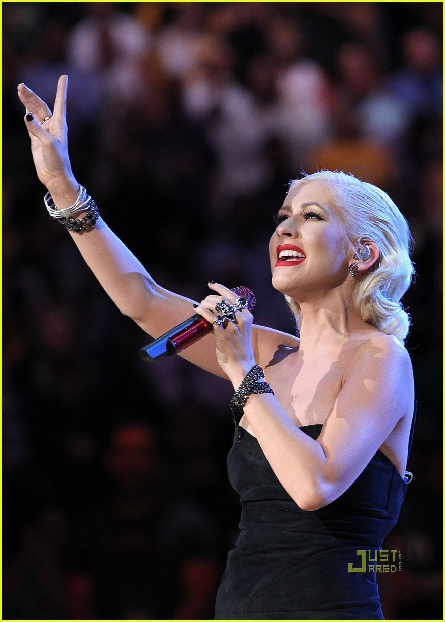 christina aguilera nba finals national anthem 06