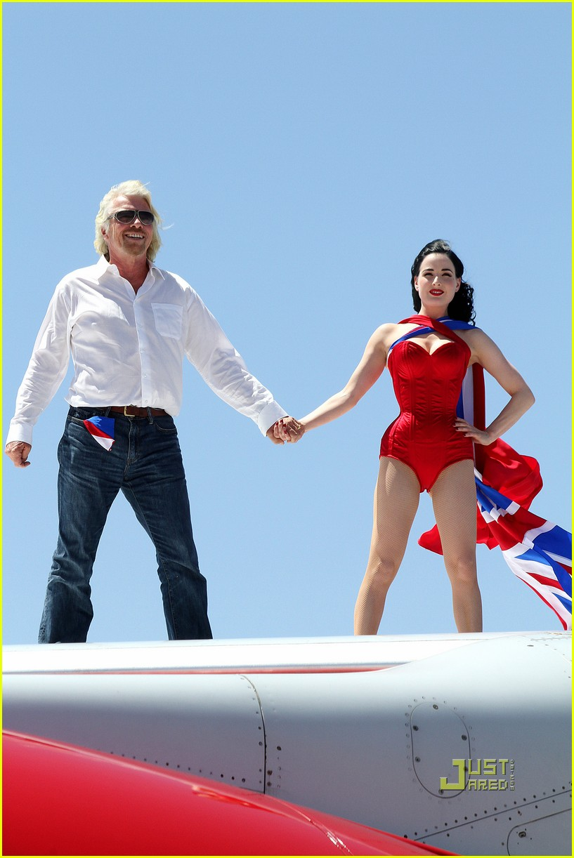 dita von teese virgin atlantic london to vegas 02
