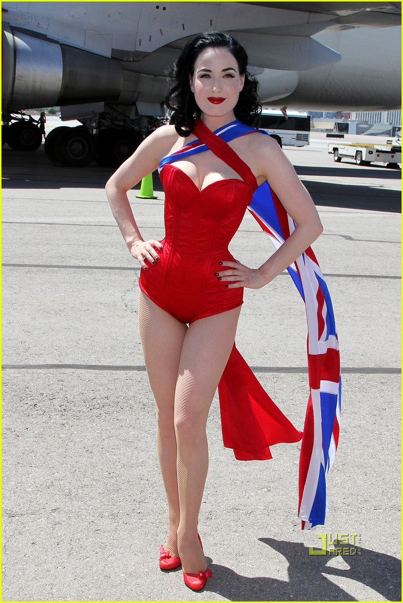dita von teese virgin atlantic london to vegas 052459018