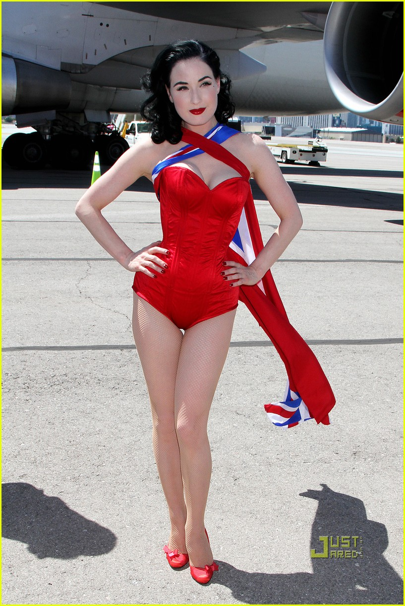 dita von teese virgin atlantic london to vegas 13