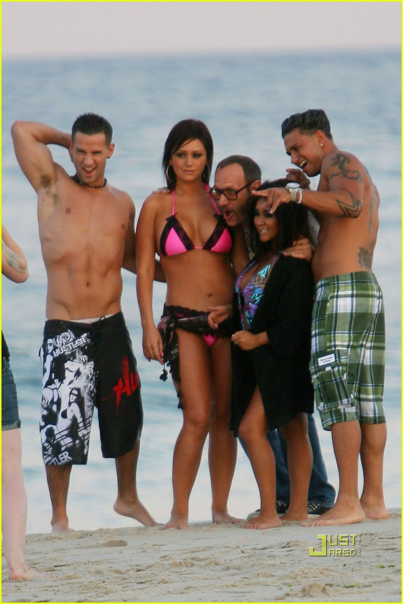 jersey shore cast beach photo shoot 10
